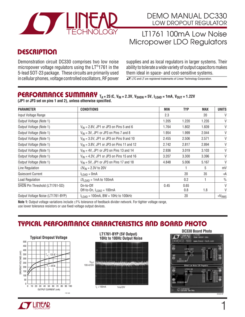 Low Noise 10 PC LT1761ES5-3.3 SOT23-5 LT1761ES5 100mA LDO Micropower Regulator