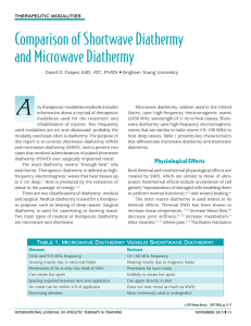 Comparison of Shortwave Diathermy and Microwave Diathermy