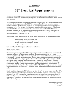 787 Electrical Requirements