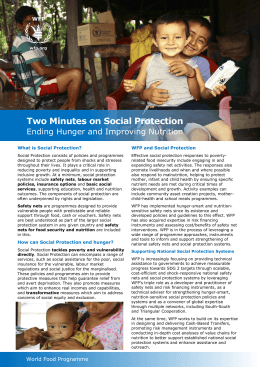 Two Minutes on Social Protection