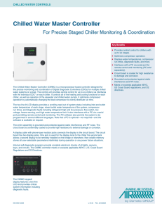 Chilled Water Master Control (CWMC) Specification Sheet