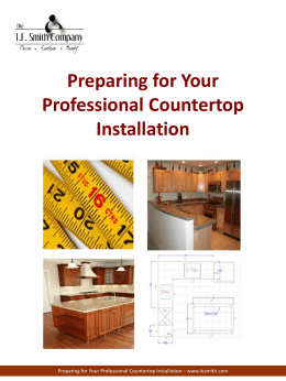 Preparing For Your Professional Countertop Installation