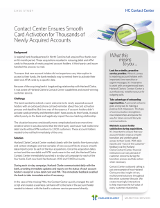 Contact Center Ensures Smooth Card Activation for Thousands of