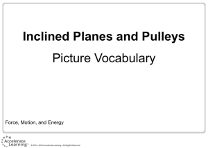 Inclined Planes and Pulleys Picture Vocabulary