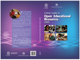 A Basic guide to open educational resources - unesdoc