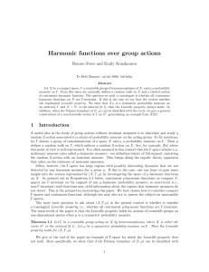Harmonic functions over group actions