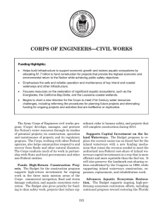 CORPS OF ENGINEERS —CIVIL WORKS