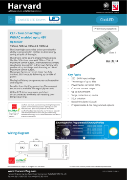 CL CoolLED LED Drivers CLP - Twin SmartNight WiMAC enabled