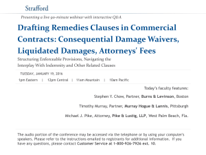 Drafting Remedies Clauses in Commercial Contracts