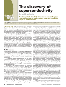 The discovery of superconductivity