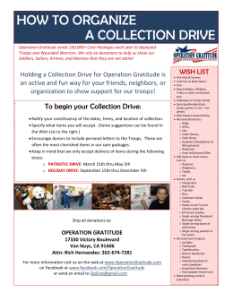 how to organize a collection drive