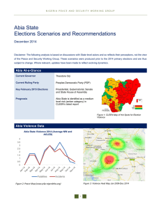 Abia State Elections Scenarios and Recommendations