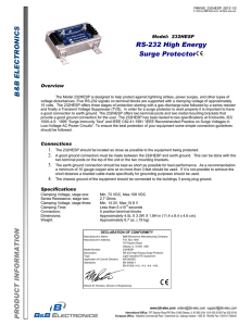 232HESP - Datasheet - RS-232 High Energy Surge Protector