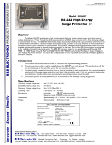 232HSP - Datasheet - RS-232 High Energy Surge Protector