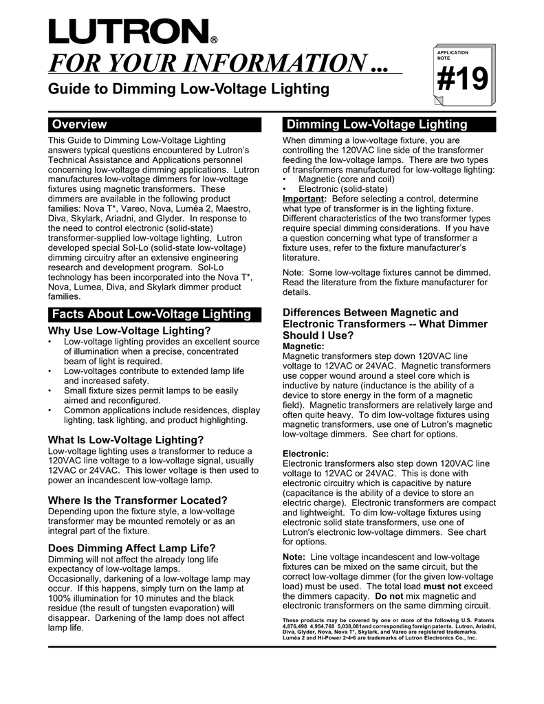 Guide To Dimming Low Voltage Lighting Filament Light Dimmer Circuit Electronic Circuits