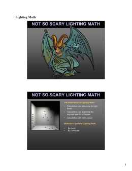 not so scary lighting math not so scary lighting math