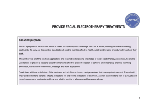 PROVIDE FACIAL ELECTROTHERAPY TREATMENTS