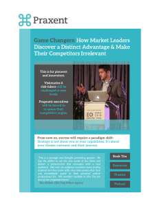 Game Changers: How Market Leaders Discover a Distinct