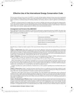 Effective Use of the International Energy Conservation Code