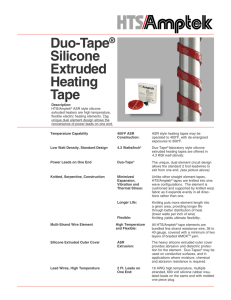 Duo-Tape Silicone Extruded Heating Tape