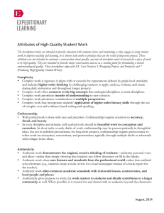 Attributes of High-Quality Student Work EL 0814
