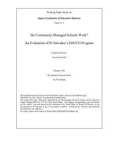 Do Community-Managed Schools Work? An Evaluation of El