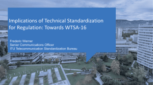Implications of Technical Standardization for Regulation: Towards
