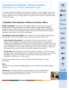 Canadian Farm Business Advisory Services offers
