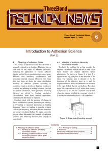 Introduction to Adhesion Science