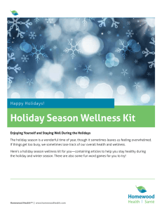 Holiday Season Wellness Kit