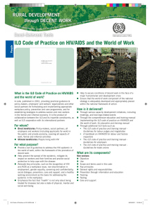 ILO Code of Practice on HIV/AIDS and the World of Work  pdf