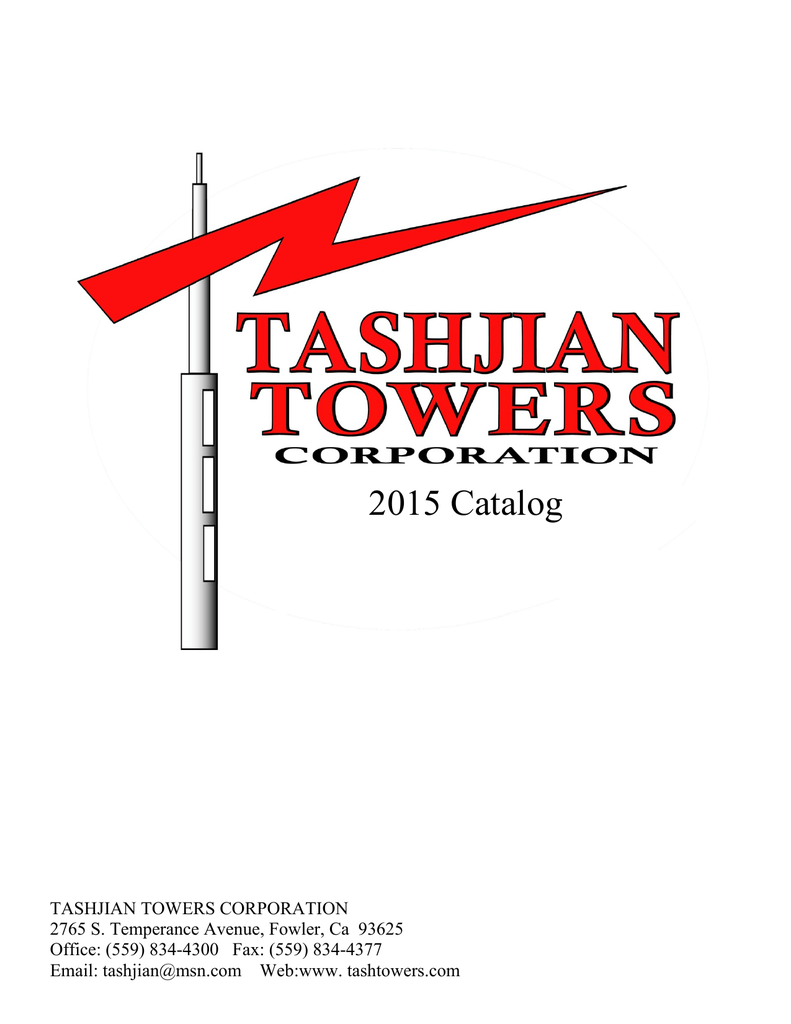 2015 Catalog - Tashjian Towers