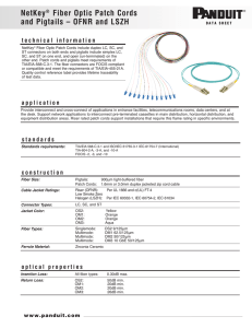 NetKey® Fiber Optic Patch Cords and Pigtails – OFNR and