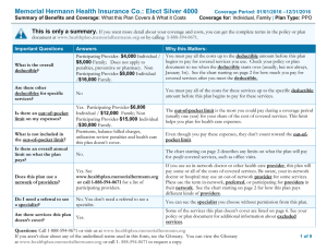 Memorial Hermann Health Insurance Co.: Elect Silver 4000