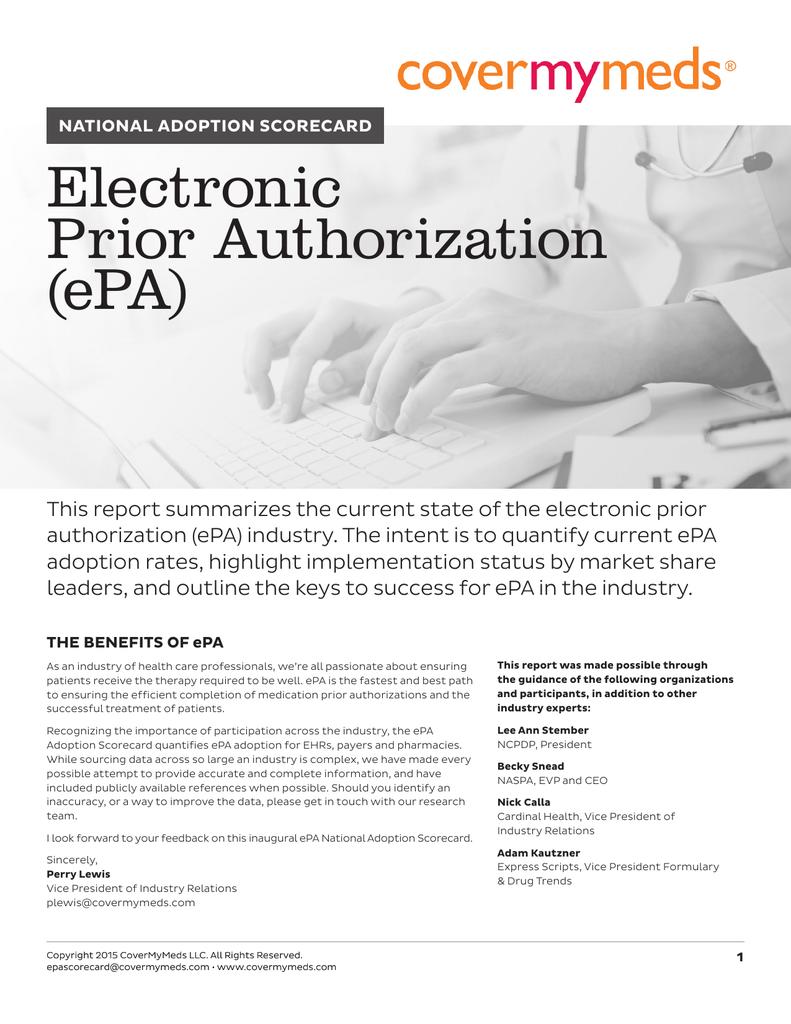 Electronic Prior Authorization Epa