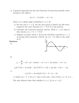 2. A general expression for the wave function of transverse periodic