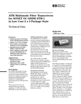 ATM Multimode Fiber Transceivers for SONET OC-3/SDH STM