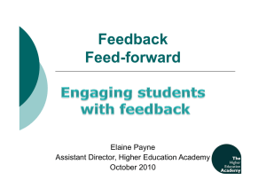 Feedback Feed-forward
