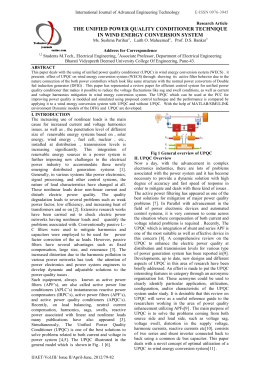 unified power quality conditioner thesis