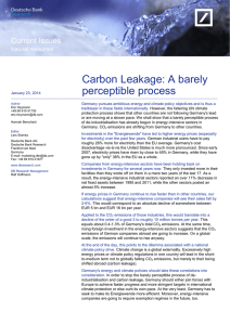 Carbon Leakage: A barely perceptible process