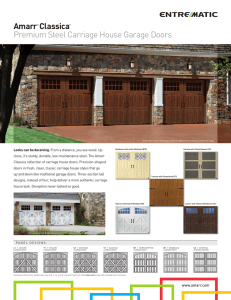 Amarr® Classica® Premium Steel Carriage House Garage Doors