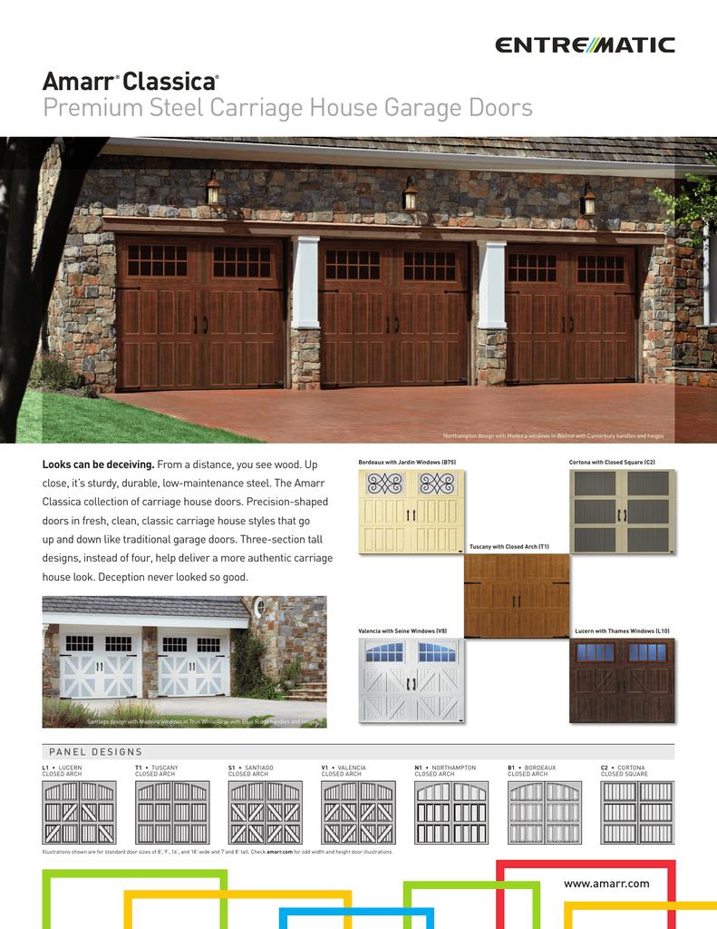 Amarr classica premium steel carriage house garage doors rubansaba