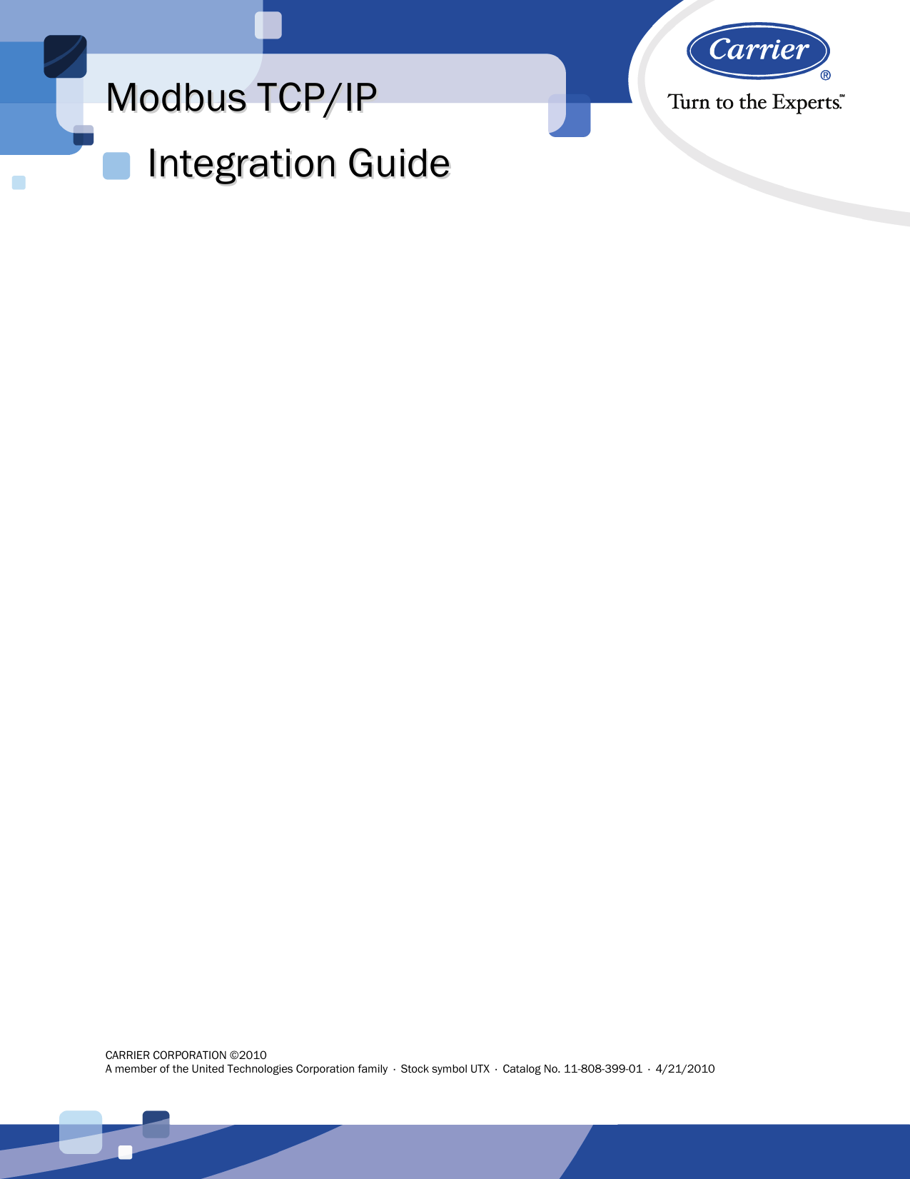 Modbus TCP/IP Integration Guide