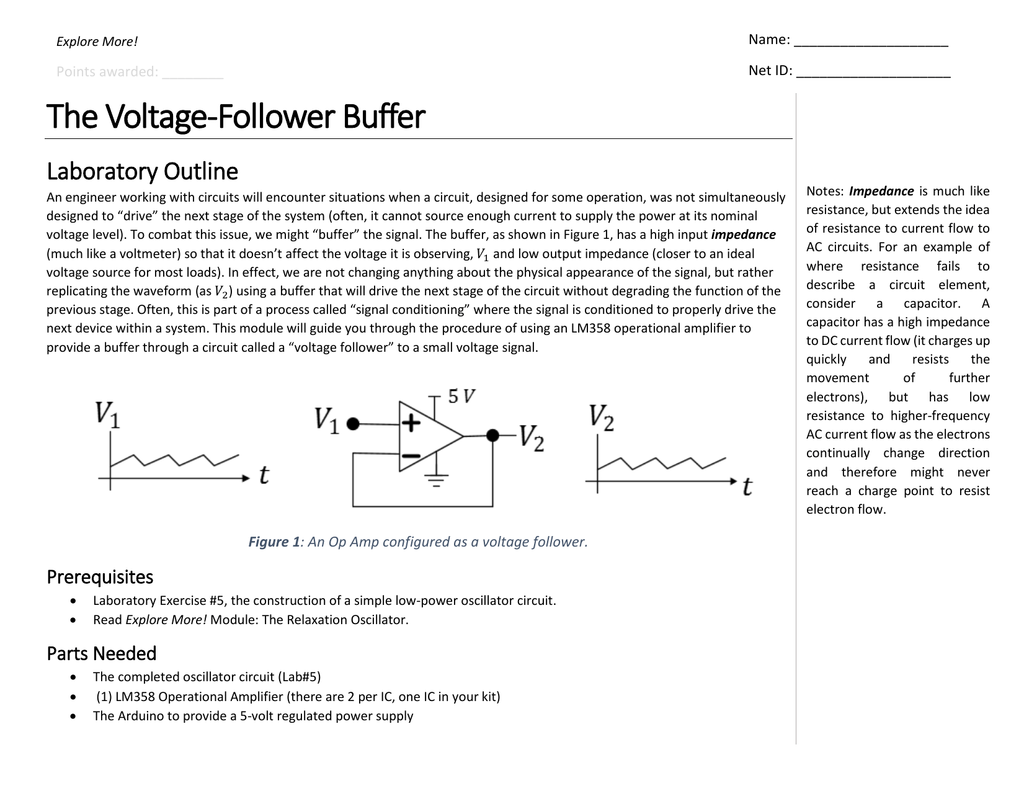 The Voltage Follower Buffer More Circuit About Simple Power Supply