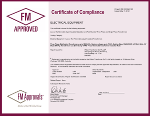Certificate of Compliance - FM Approved