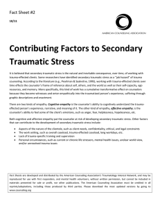 Contributing Factors to Secondary Traumatic Stress
