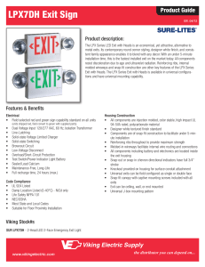 LPX7DH Exit Sign - Eoff Electric Supply