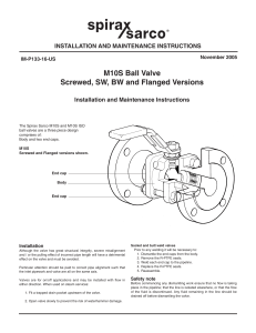 M10S Ball Valve Screwed, SW, BW and Flanged