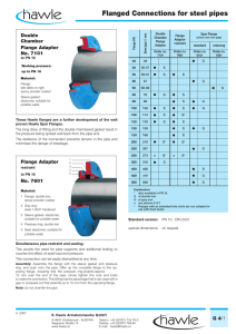 Flanged Connections for steel pipes