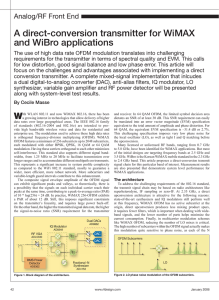 A direct-conversion transmitter for WiMAX and WiBro applications